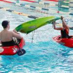 Занятие по технике страховки на воде, детский каякингв СПб