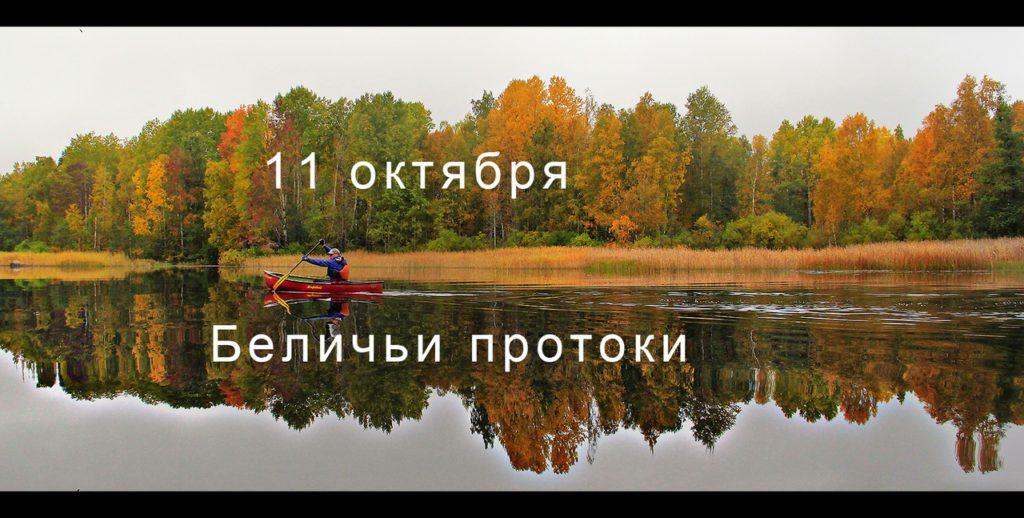 11 октября состоится тур по Беличьим протокам.