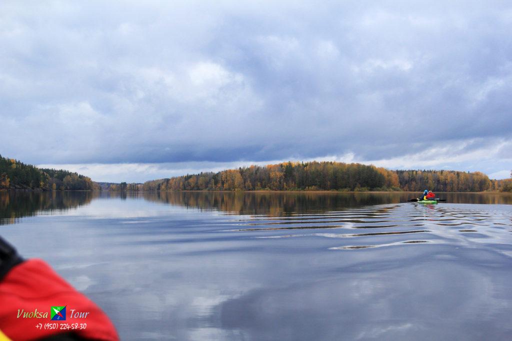 13 октября провели очередную разведку маршрута по оз. Любимовское(нижнее).